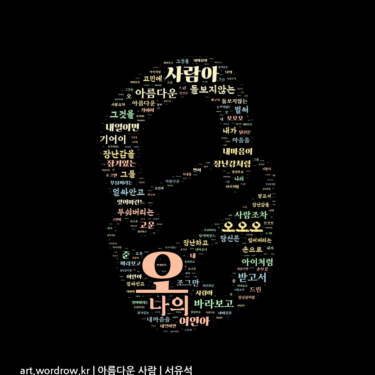워드 아트: 아름다운 사람 [서유석]-5